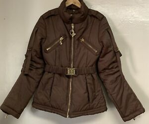 Baby Phat brown casual autumn winter jacket size S