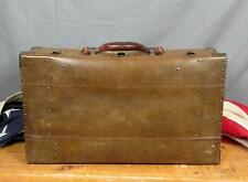 Vintage 1920s Antique Suit Case Industrial Type Case Leather Handle Great Look!