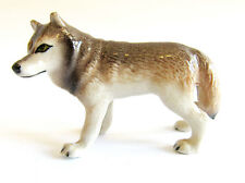 Miniature Ceramic Hand Painted Wolf Figurine - Grey (Mini)