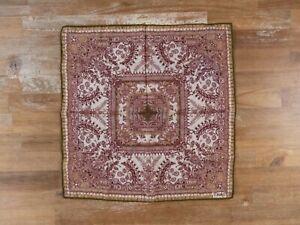 DRAKE'S London floral and paisley motif cotton silk mix pocket square authentic