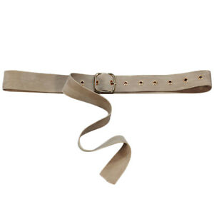Canvas Web D Ring Belt Silver Buckle Military Style for men & women Waistband