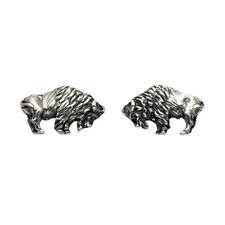 Sterling Silver Buffalo Stud Earrings - SE980
