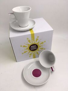 Nescafé Dolce Gusto 50ml ESPRESSO Coffee Cup & Saucers Set of 2