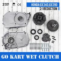 Gearbox Wet Clutch GO-CART GX270 GX390 For Honda HQ 2:1 Reduction longer life