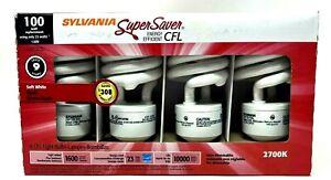 (Pack of 4) Sylvania Super Saver CFL 100W using 23W 120V Soft White Energy Star