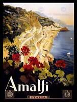 TRAVEL AMALFI COAST BEACH ITALIA ITALY NEW ART PRINT POSTER PICTURE CC4341