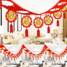 Chinese Lantern Traditional Hanging Red Banner New Year Party Decorations JRIT