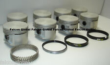 "Plymouth Dodge Chrysler 440 Cast Pistons + cast Rings 9.3:1 030"" 1966-71 Cuda"