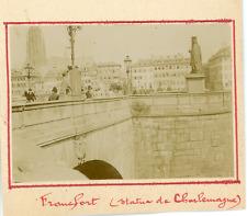 Allemagne, Francfort, Statue de Charlemagne  Vintage citrate print. Vintage Germ