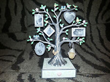 HALLMARK Keepsake ROCK A BYE BABY Kid PEWTER PICTURE PHOTO TREE Large Tabletop