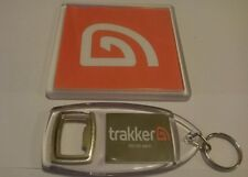TRAKKER CARP FISHING BIVVY TABLE COASTER and KEYRING red logo