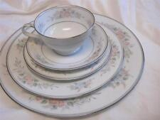 NORITAKE CHINA ROMANCE PATTERN 6022   5 PIECE PLACE SETTING DINNER SALAD PLATE