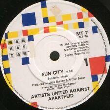 "ARTISTS UNITED AGAINST APARTHEID sun city MT 7 7"" WS EX/"