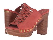 Michael Kors Westley Cinnamon Suede Open Toe Mule  Women's Size 7 M