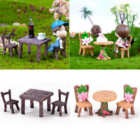 Miniature Fairy Garden Table and Chairs Landscape Ornaments DIY Decoration Craft