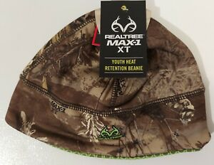 Youth Realtree Max-1 XT, Heat Retention, Scent Control, Beanie, 1 Size Fits Most
