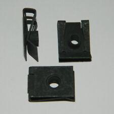 5 Stk. selbstsichernde Befestigungsklammer M6 schwarz verzinkt Schnappmutter
