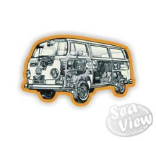 Retro Camper Inside Volkswagen Car Van VW Splitscreen Decal Funny Sticker