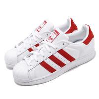 adidas Originals Superstar White Red Mens Womens Casual Shoes EF9237