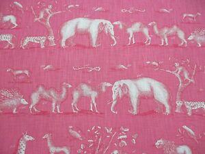 Andrew Martin Curtain Fabric 'KINGDOM - PARADISE' 1.5 METRES (150cm) Linen Blend