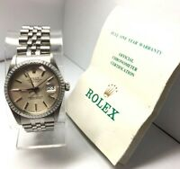 Rolex Men's Oyster Perpetual Datejust 16030 Stainless Steel