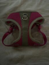 Top Paw Dog Harness  Hot Pink Mesh Padded Silver Reflective  XXS 13-16