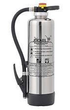 Jockel Design Feuerlöscher 6kg Pulver 43A=12LE  Chrom Silber Pulverfeuerlöscher