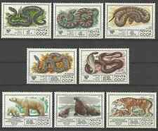 Timbres Animaux Reptiles Félins URSS 4438/45 ** lot 14522