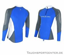 Aqualung Rash Guard BlueMotion Langarm, UV-Schutz Lycra Shirt, UV-Shirt