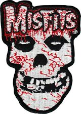 Patch - Misfits Bloody Crimson Ghost Danzig Punk Music Band Skull Iron On 39177