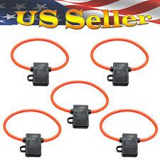 5 PCS ATC FUSE HOLDER 10 AWG GAUGE IN-LINE COPPER WIRE 12 VOLT