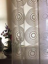 écossais coton madras lacet Crème 168cm large par mètre Funky cercle Monica