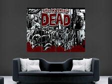 The walking dead jour zombies tv énorme géant art image grand mur affiche
