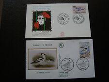 FRANCE - 2 enveloppes 1er jour 1991/1993 (canard/amnesty internat) (cy64) french