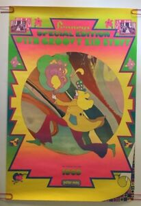 Original Vintage Poster Peter Max Penney's Groovy Kid Stuff 1969 Pin-up Retro
