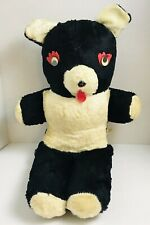 RARE Vintage 50's 60's Large Columbia Toy Products Panda Bear Stuffed Animal