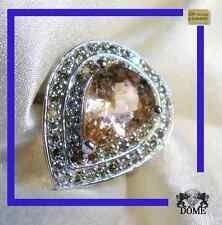 ♛ SOMPTUEUSE BAGUE DIAMANT MORGANITE OR BLANC 18K 750 Réf lv 08829  4 CT 5799E ♛