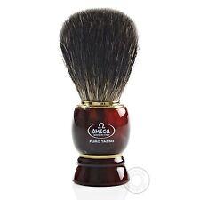 Omega 63185 Puro Tasso Capelli Pennello da Barba