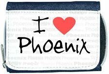 I Love Heart Phoenix Denim Wallet