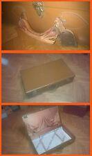 Grande valigia in cuoio marrone anni 60