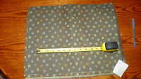 Gray Blue Dot Print Upholstery Fabric Remnant 1 Yard  F51