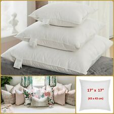 FEATHER CUSHION PAD 17 x 17 Inch Sofa Inserts 43cm  EXTRA THICK 600g Filler