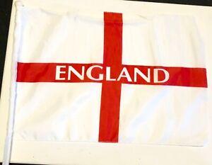 England, St. George car flag with clip, 45 cm x 30 cm, 2 for £4.99, Euro 2020