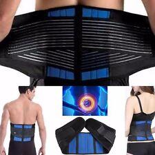 SUPPORTO Lombare Cintura Lombare Tutore Cintura Postura Dolore Sollievo Nero Regno Unito Best