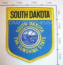 South Dakota State Flag Shield Embroidered Patch Sew Iron On Biker Vest Applique