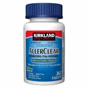 Kirkland AllerClear Non-Drowsy Allergy Loratadine 10mg 365 Tablets -Medicine