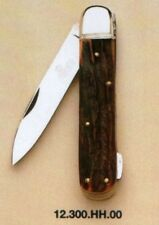 "HUBERTUS GERMAN HUNTING POCKET FOLDING KNIFE 3.15"" BLADE / STAG ** NEW in BOX **"