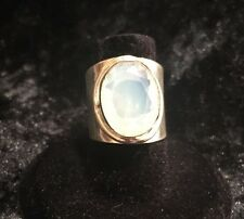 A Sterling Silver And Milky Opal Ring