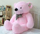 "31"" Stuffed Giant Pink Plush Teddy Bear Huge Soft 100% Cotton Doll Gift 80cm New"