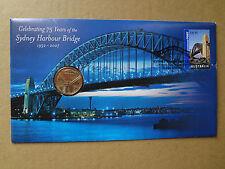 AUSTRALIA /2007 Sydney Harbour Bridge PNC UNCIRCULATED $1 coin.